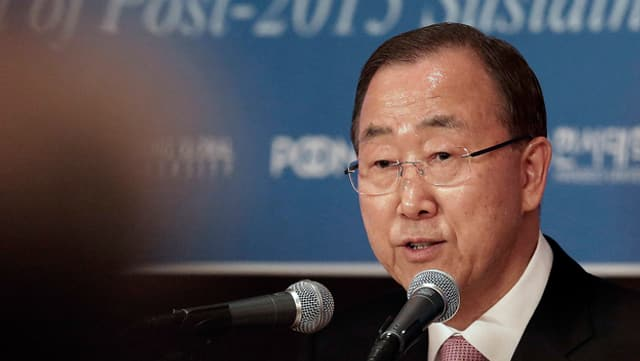 Ban Ki Moon secretari general da l'ONU.