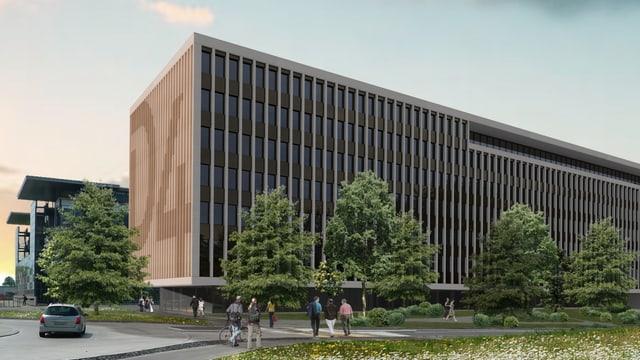 Visualisierung eines Büro-Gebäudes.