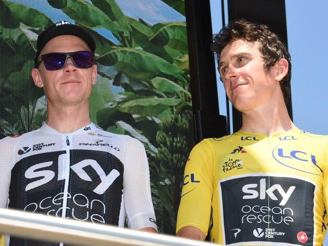 Die beiden Sky-Fahrer Chris Froome (links) und Geraint Thomas.