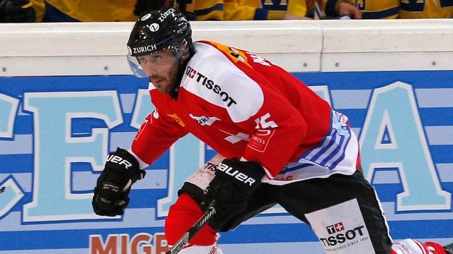 Eric Walsky bei seinem Debüt im Dress der Schweizer Nationalmannschaft gegen Schweden.