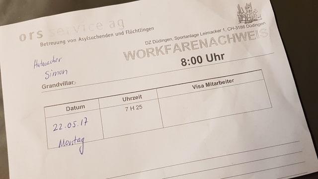 Papier mit Arbeitseinsatz