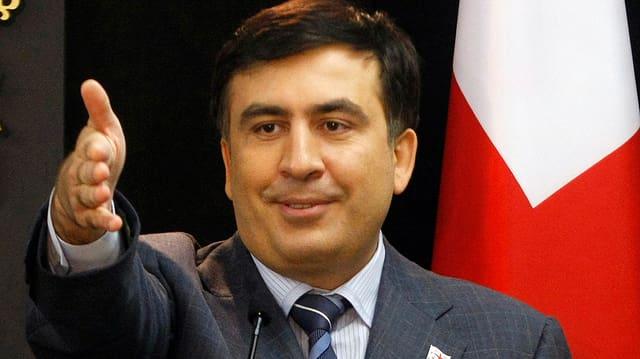 Porträt von Michail Saakaschwili, Georgiens Präsident.