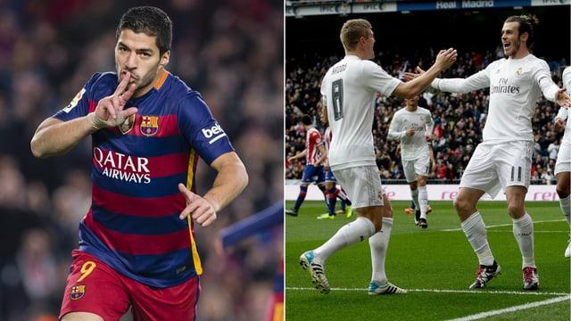 Barça-Stürmer Luis Suarez und Gareth Bale