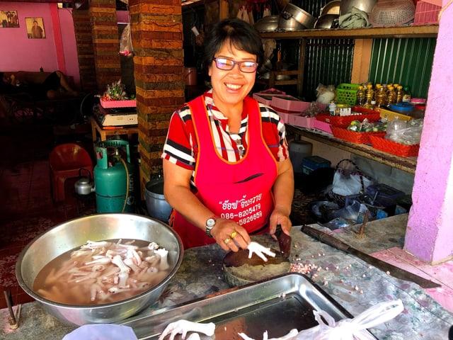 Garküchenbesitzern Khea Kham.