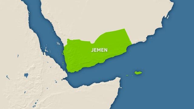 Karte von Jemen