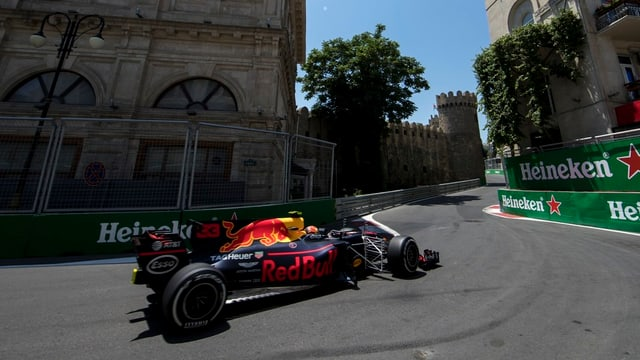 Max Verstappen in Baku.