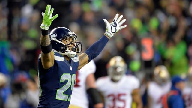 Earl Thomas feiert den Triumph der Seattle Seahawks.