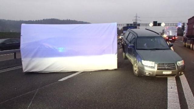 Unfall bei Brunegg.