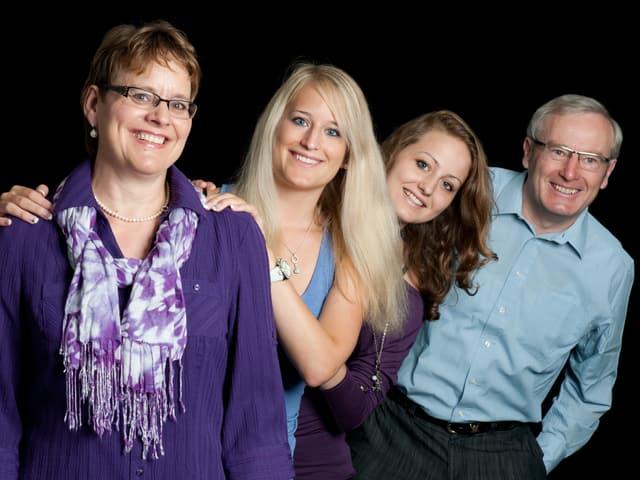 Die Familie des Regierungsrates Alois Bissig aus dem Kanton Nidwalden.
