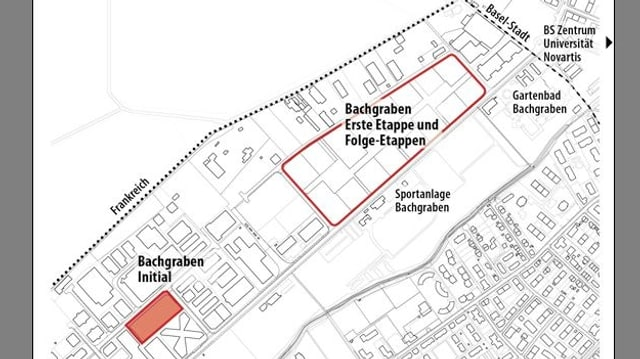 Situationsplan Bachgraben Allschwil