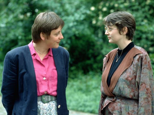 Angela Merkel und Claudia Nolte.