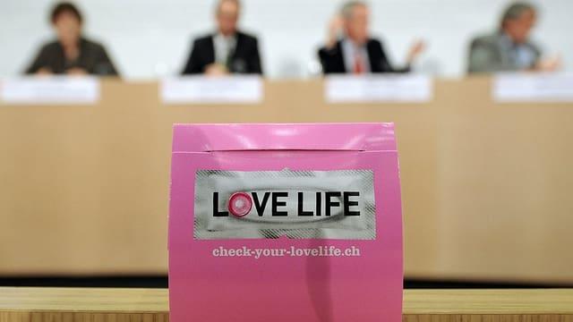 """Pressekonferenz der """"Love Life""""-Kmapagne."""