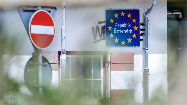Grenzübergang beim Brenner.