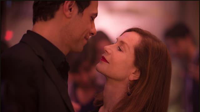 Isabelle Huppert mit Mann