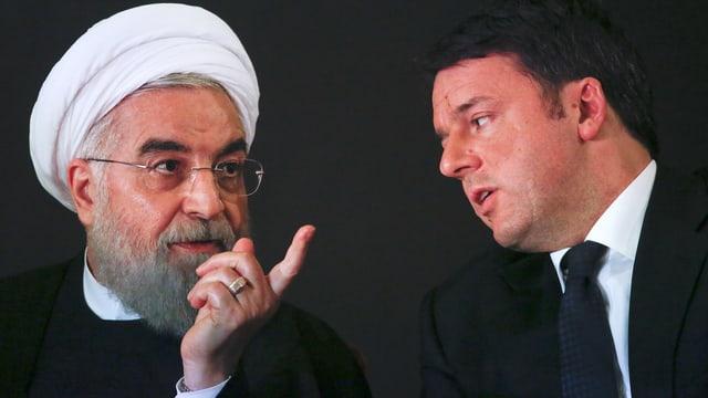 Hassan Rohani und Matteo Renzi.