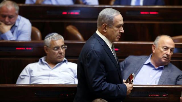 Israels Premier Benjamin Netanyahu im Parlament