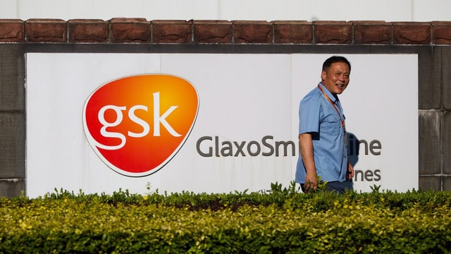Chinese vor GSK-Logo