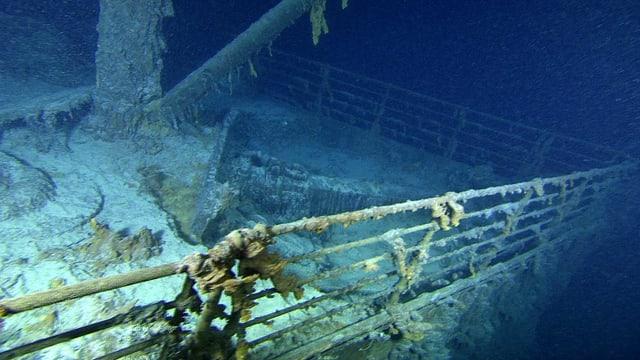 Das Wrack der Titanic auf dem Meeresgrund.