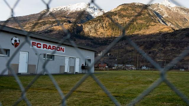 Trainingsplatz des FC Raron.