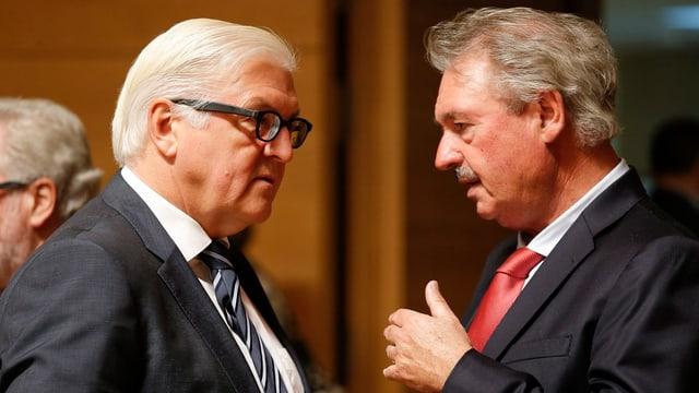 Asselborn im Gespräch mit dem deutschen Aussenminister Steinmeier