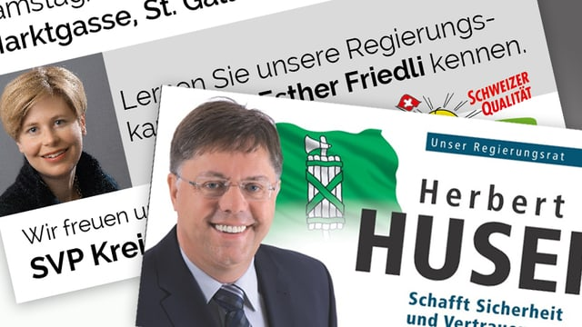 Zwei Wahlplakate