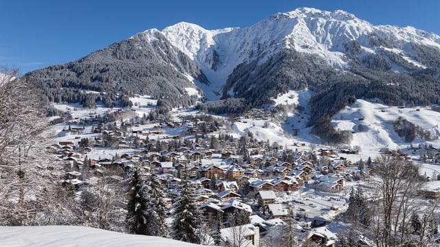 Blick auf Klosters.