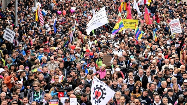 Corona-Demonstranten.