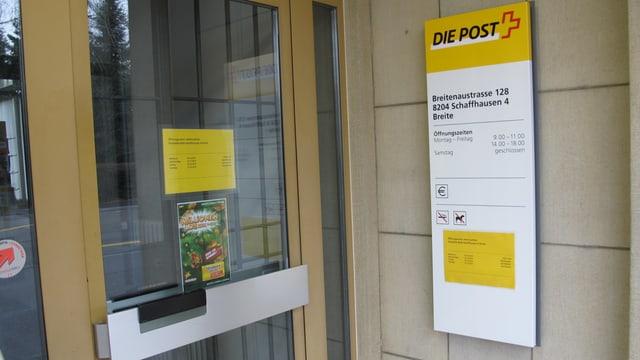 Poststelle in Schaffhausen-Breite