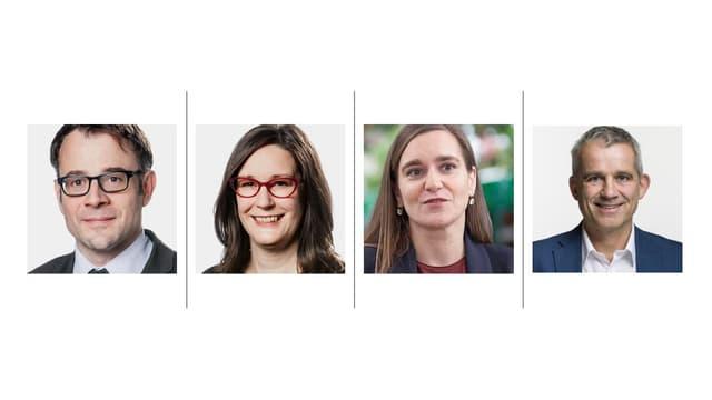 Auf dem Bild sieht man vlnr Kaspar Sutter, Kerstin Wenk, Beatriz Greuter, Beat Jans