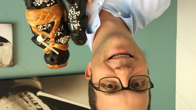 Dominic Meyerhans und seine schwarzen Schmutzlibänze.