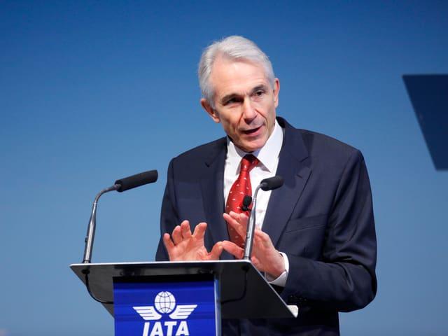 Porträt von Tony Tyler, Direktor des Internationalen Luftfahrtverbands.