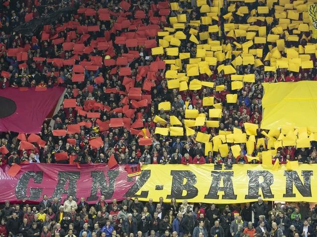 Fans im Stadion des SC Bern.