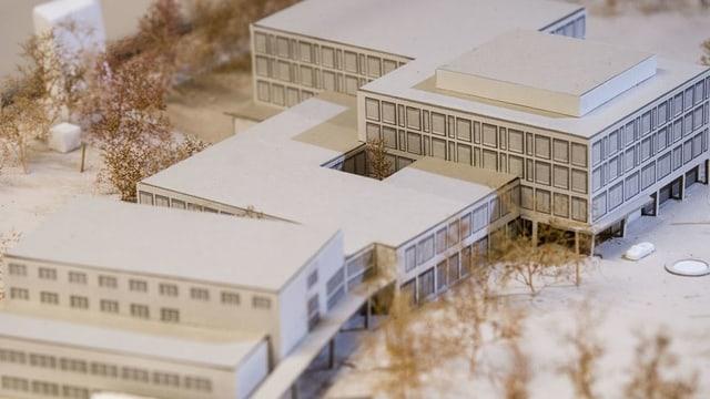 Projektskizze des Spitals.