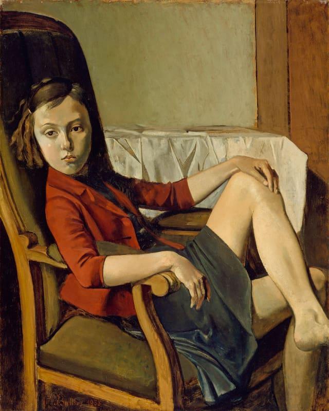 Ausschnitte aus einem Bild: Ein Mädchen sitzt mit angezogenem nacktem Knie auf einem Stuhl.