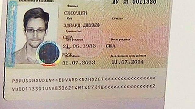 Passfoto von Edward Snowden