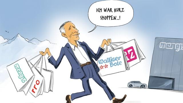Cartoon der Woche im Walliser Boten vom 19. Januar 2018.