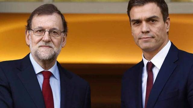 Ministerpräsident Mariano Rajoy und Parteichef der Sozialisten, Pedro Sanchez.