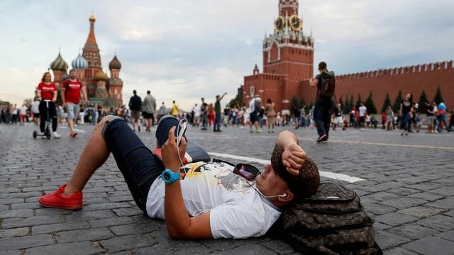 Tourist auf dem Roten Platz