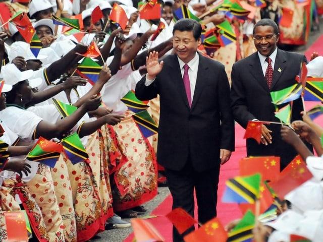 Xi in Tansania.