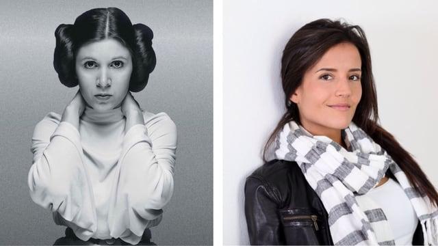 Collage: Leia und easy Arbeitskollegin