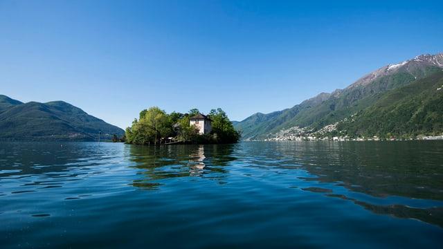 L'Isola dei Conigli en il Lago Maggiore.
