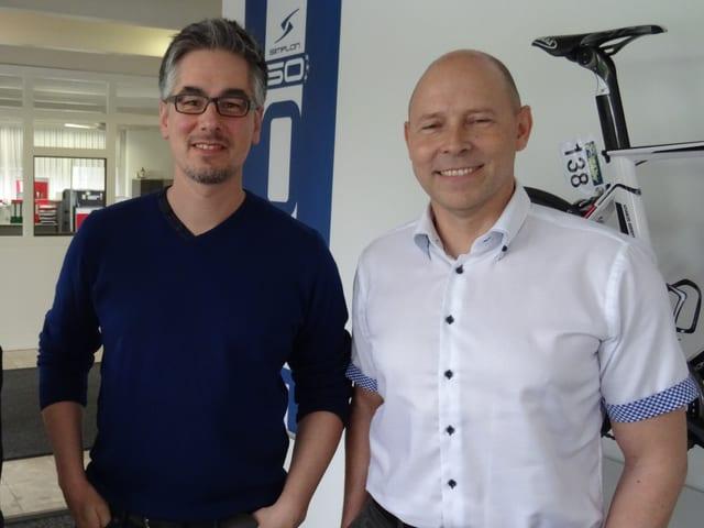 Ralf Kessler e Stefan Vollbach da la firma Simplon.