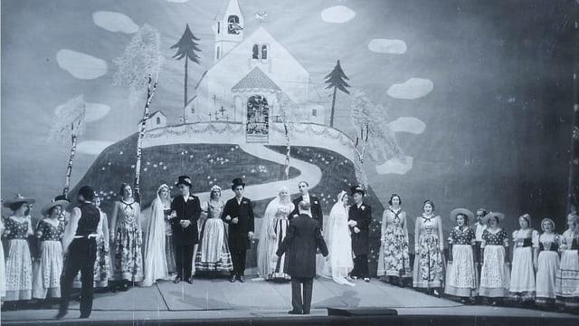Historische Aufführung der Bühne Burgäschi