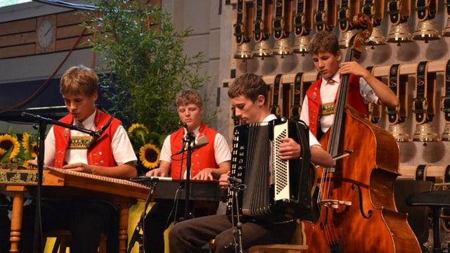 Kapelle Weissbad während ihres siegreichen Auftritts.