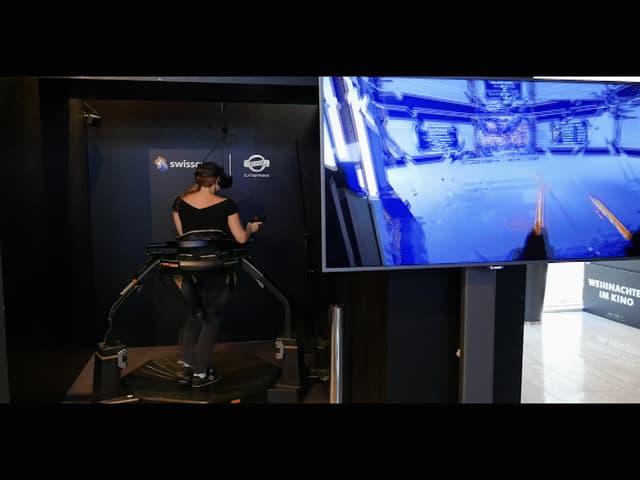 Ein animiertes GIF zeigt Martina, wie sie sich auf einer Treadmill bewegt.