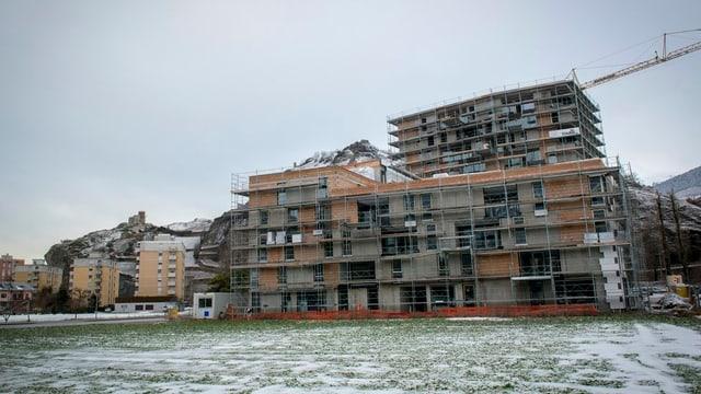 Haus im Bau.