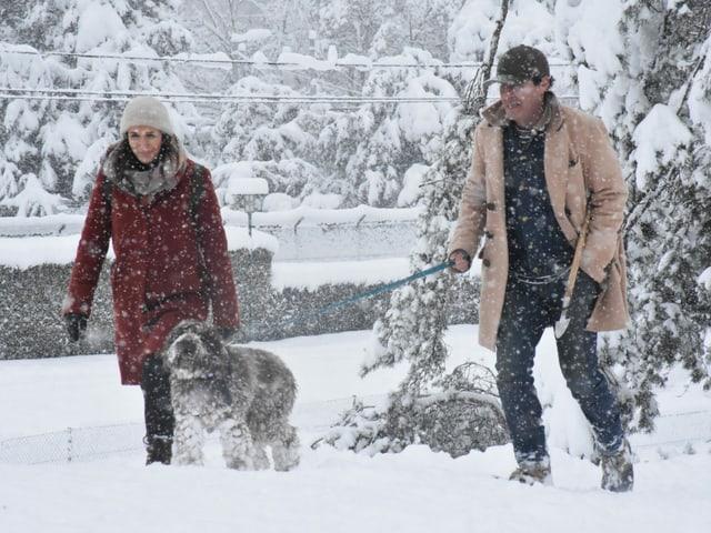 Ausflug im Schneegestöber.