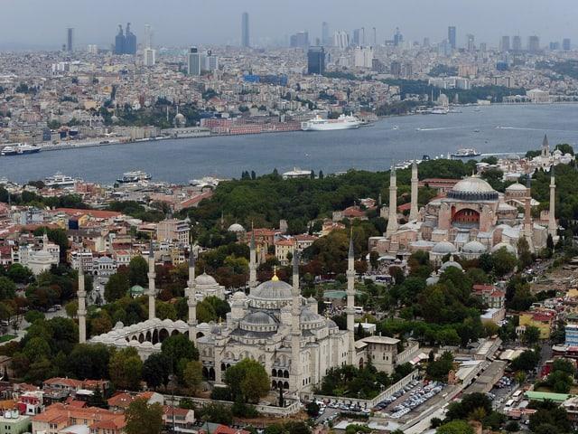 Blick auf Istanbul aus der Vogelperspektive.