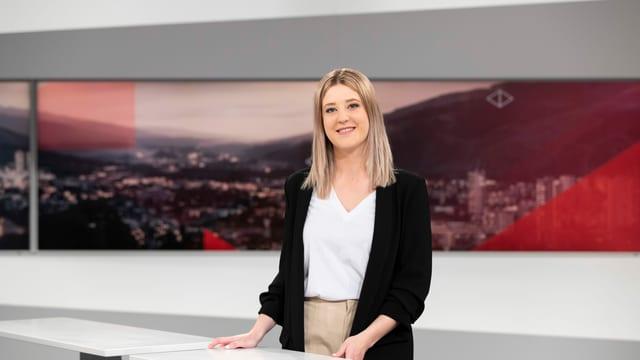 Moderatura da l'emissiun Telesguard: Donatella Bonifazzi
