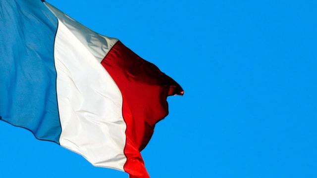 Frankreich-Fahne im Wind